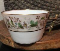 "Charles Field Haviland Limoges CFH GDM Floral 2 1/4"" Flat Cup w/ Twig Handle"