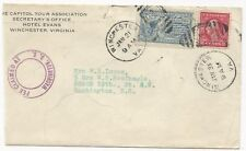 US SPECIAL DELIVERY STAMP COVER Scott #E9 Tied to Cover Winchester VA