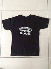 Niños Negro T-Shirt Juventud pequeño logotipo Big Brothers Rock