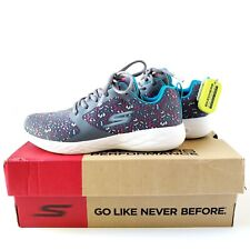 Skechers Go Run 600 Athletic Running Shoes Womens 7 Charcoal/Multicolor - New
