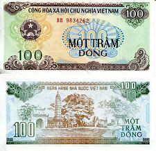 VIETNAM 100 Dong Banknote World Paper Money Grade XF/VF Currency Pick p-105a