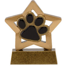 PACK OF 10 SOLID RESIN DOG SHOW PAW PRINT TROPHY TRAINING FREE ENGRAVE A1665 GMS