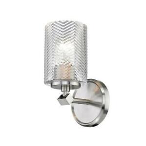 "Z-Lite 1934-1S-BN Dover Street 10"" Tall Bathroom Sconce, Brushed Nickel"