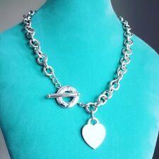 Tiffany & Co 18″ Heart Charm Toggle Necklace