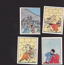 Herge Tintin Panini 1989 autocollants 207 208 209 210