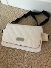 Justice Girls White Quilted Belt Bag Fanny Pack