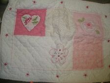 Pottery Barn Kids quilted pillow sham HEARTS & FLOWERS