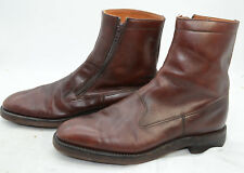 WILDSMITH London Beatle Mens Sz 8 Leather Side Zip Riding Casual Ankle Boots