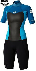 ROXY SYNCRO Short Sleeved SPRINGSUIT sizes 2G, 4G - girl's wetsuit new NWT