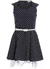 Spotty Dotty Sweet Prom Dress 18  Navy/White