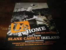 U2 - Publicité de magazine / Advert !!! GO HOME !!! UK !!!