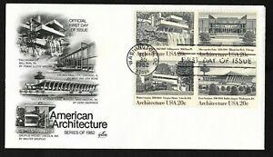 #2022a 20c Architecture USA - ArtCraft FDCB4