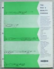 DENNIS PAX V COMMERCIAL CHASSIS Truck Sales Brochure c1966 #NS 1090 E.865/D13.2