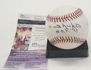 "Phil Niekro Autograph OML Auto Baseball ""HOF 97"" JSA"