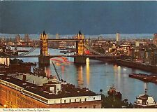 BT17950 tower bridge and the river thames by night london   uk
