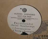 Xavier Montsalvatge - Calidoscopio - Rare Metal Acetate EP Record