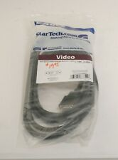 StarTech DVIVGAMM10 10ft DVI to VGA Display Monitor Cable Black ; UNT 626268