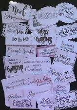 Merry Christmas Sentiment 2 Bulk Card Toppers /Scrapbooking Embellishments.