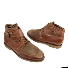 Men's STREGA Italian Brown Leather with Sheepskin Boots Size 10 (US)