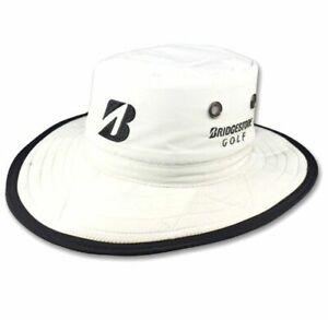 NEW Bridgestone Wide Brim Safari Boonie WHITE Fitted S/M Hat/Cap