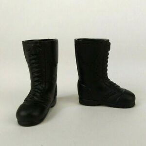 1/6 Scale High Black Boots For 12 Inch Action Figures GI Joe BBI DID Dragon 21st