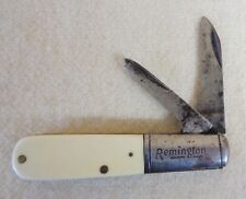 Vintage REMINGTON Two Blade POCKET KNIFE with Off-White Handle (TH1281)