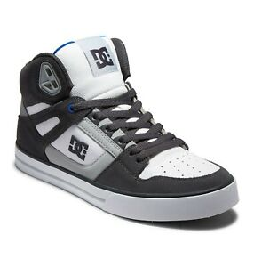 DC SHOES PURE HIGH TOP WC GREY WHITE BLUE  ADYS400043 XSWB  MENS UK SIZES 9 - 12