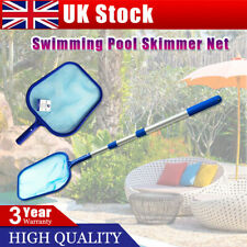 More details for swimming pool debris leaf skimmer mesh net 3 way cleaning & telescopic pole uk