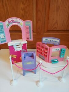 Vintage 1994 Barbie Doll So Much To Do Post Office Parcel Center Mailbox Set