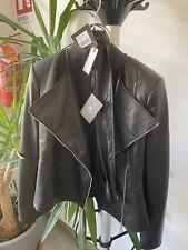 giacca ecopelle donna nero Elisabetta Franchi 44/46