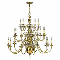 Hinkely Lighting Cambridge 25lt Chandelier 25 x 40W E14 220-240v 50hz Class I