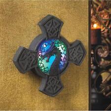 Medieval Dragon Led Glow Light Knights Templar Cross Crest Emblem Fantasy Plaque