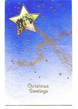 Photo of Little Girl-Shooting Star-1909 Christmas Holiday Greeting Postcard