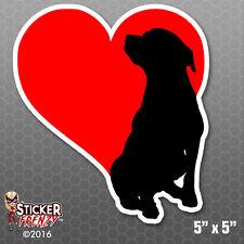Love Heart Dogs Bumper Sticker Car Decal Pets Cartoon Laptop Puppies Family Kids