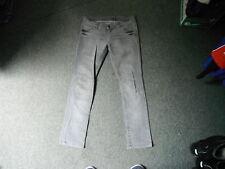 "Moto Slim Jeans Waist 30"" Leg 30"" Black Faded Ladies Jeans"