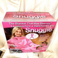 Snuggie Pink Original TV Blanket Sleeves fleece One-Size Book light NOT Included