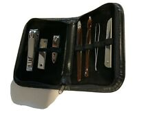 7 Piece Manicure-Pedicure Set In Padded Case. New.