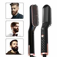 3 in1 Pro Electric Men's Hair Straightener Comb Beard Brush Straightening Beard