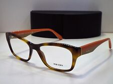 111998e2415c Authentic PRADA VPR24R TKR-1O1 Orange Havana Eyeglasses Frame DEMO MODEL   270