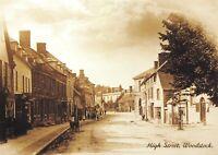 Vintage Reproduction Postcard c1900 High Street, Woodstock, Oxfordshire 5R