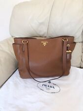 Prada Shoulder Bag Tote, Brown/Tan Colour, 100% Authentic, NEW, STUNNING