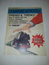 Corriere dei Piccoli n. 40 1967 - Inserto Album figurine I Treni - Lima - Pratt