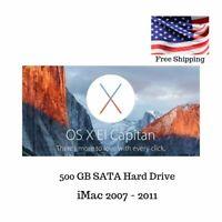 500GB Apple Hard Drive iMac Mid 2007-2011 Mac Pro El Capitan 10.11