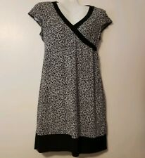 Motherhood Maternity Black & White  Faux Wrap Dress - Size Medium