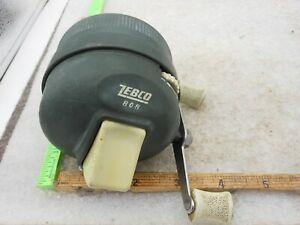 Vintage Zebco 808 Heavy Duty SPINCASTING Fishing Reel Made in USA METAL FOOT