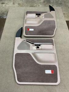 92-96 Ford Econoline Van OEM Door Panels Power Tan E150 E250 E350 Nice