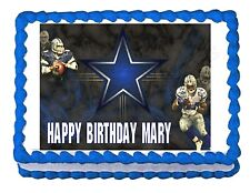 DALLAS COWBOYS FOOTBALL party edible cake image cake topper frosting decoration