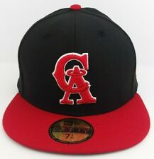 California Angels Black Gray Maroon Blue Argent Gold New Era 59Fifty Fitted Hat