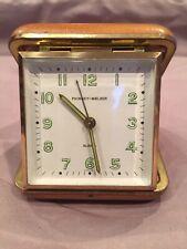 Vintage 1950'S Phinney - Walker Travel Alarm Clock ( Working )