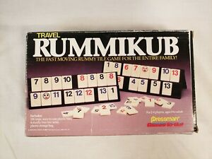 Vintage Pressman Travel RUMMIKUB Game Open but Unused